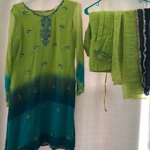 Dresses & Skirts - Indian/Pakistani Tunic/ Chudidar Kurta suit.
